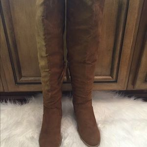 Dolce Vita over the knee chestnut boots size 7
